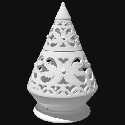 Lume Terry traforato h 45 white line - Ceramiche  di Caltagirone Sofia