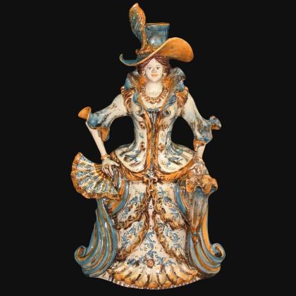 Ceramic watch handmade products. Artistic ceramics of Caltagirone